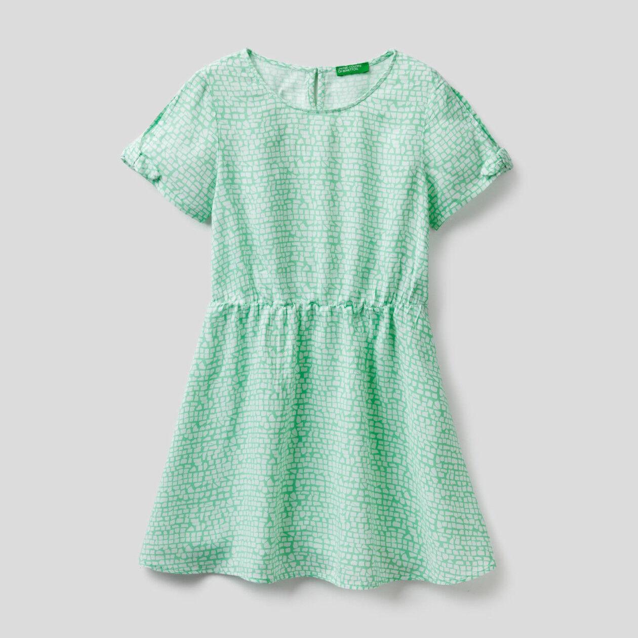 Flowy patterned dress