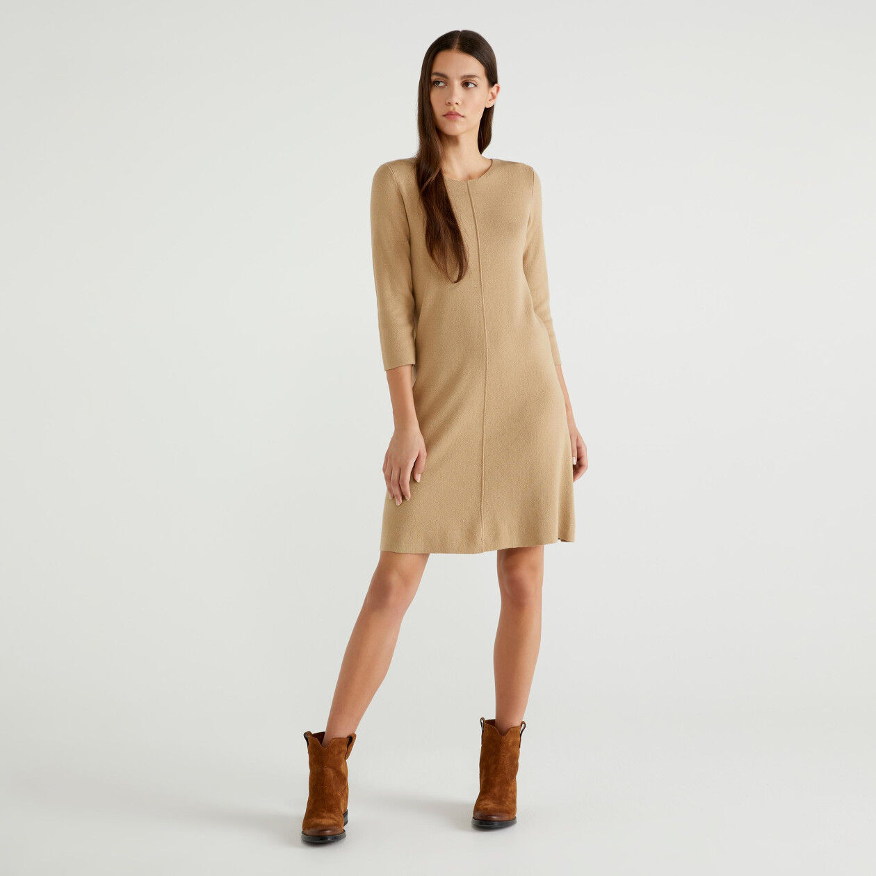 3/4 sleeve knit dress