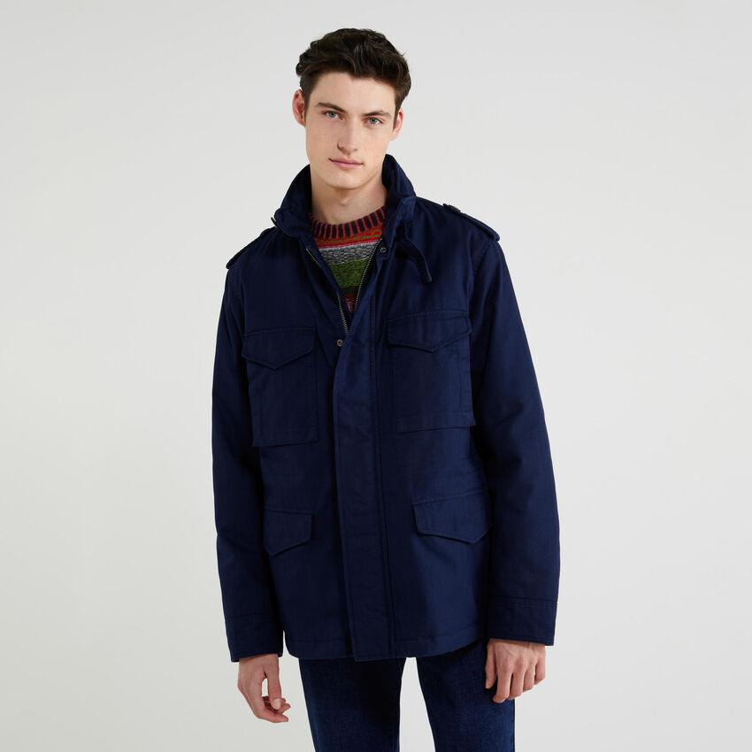Multi-pocket padded jacket