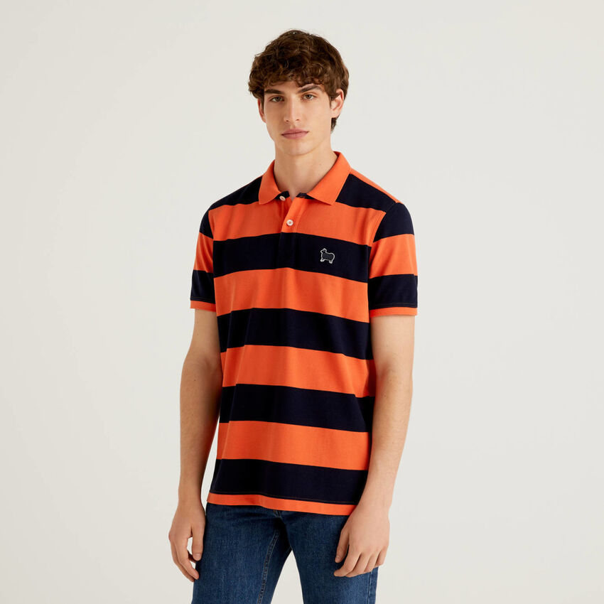 Regular fit polo in 100% cotton
