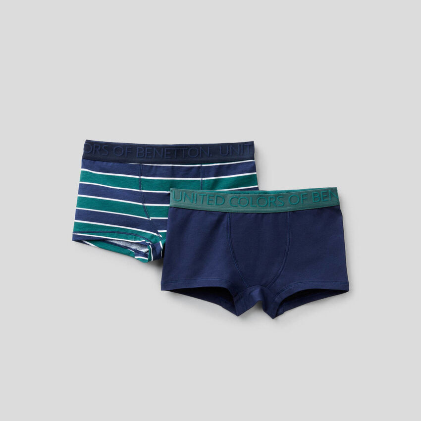 Two boxers in stretch cotton
