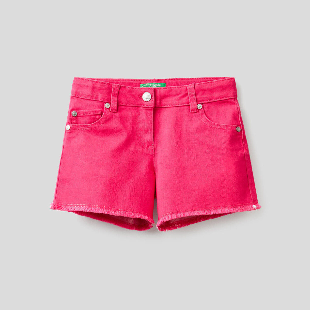 Shorts in stretch cotton blend