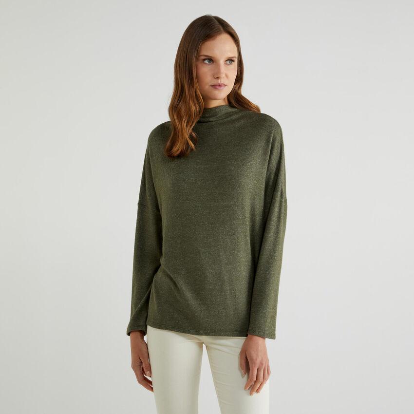 Turtleneck sweater in jersey