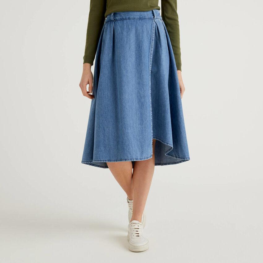 Wrap look skirt