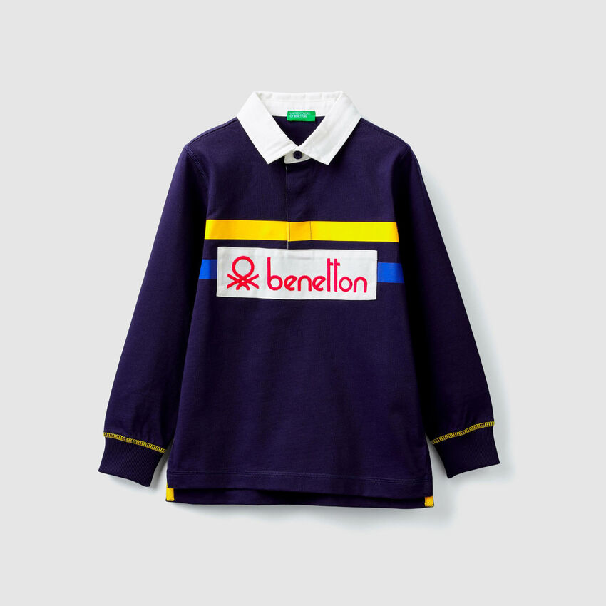 Jersey polo with logo