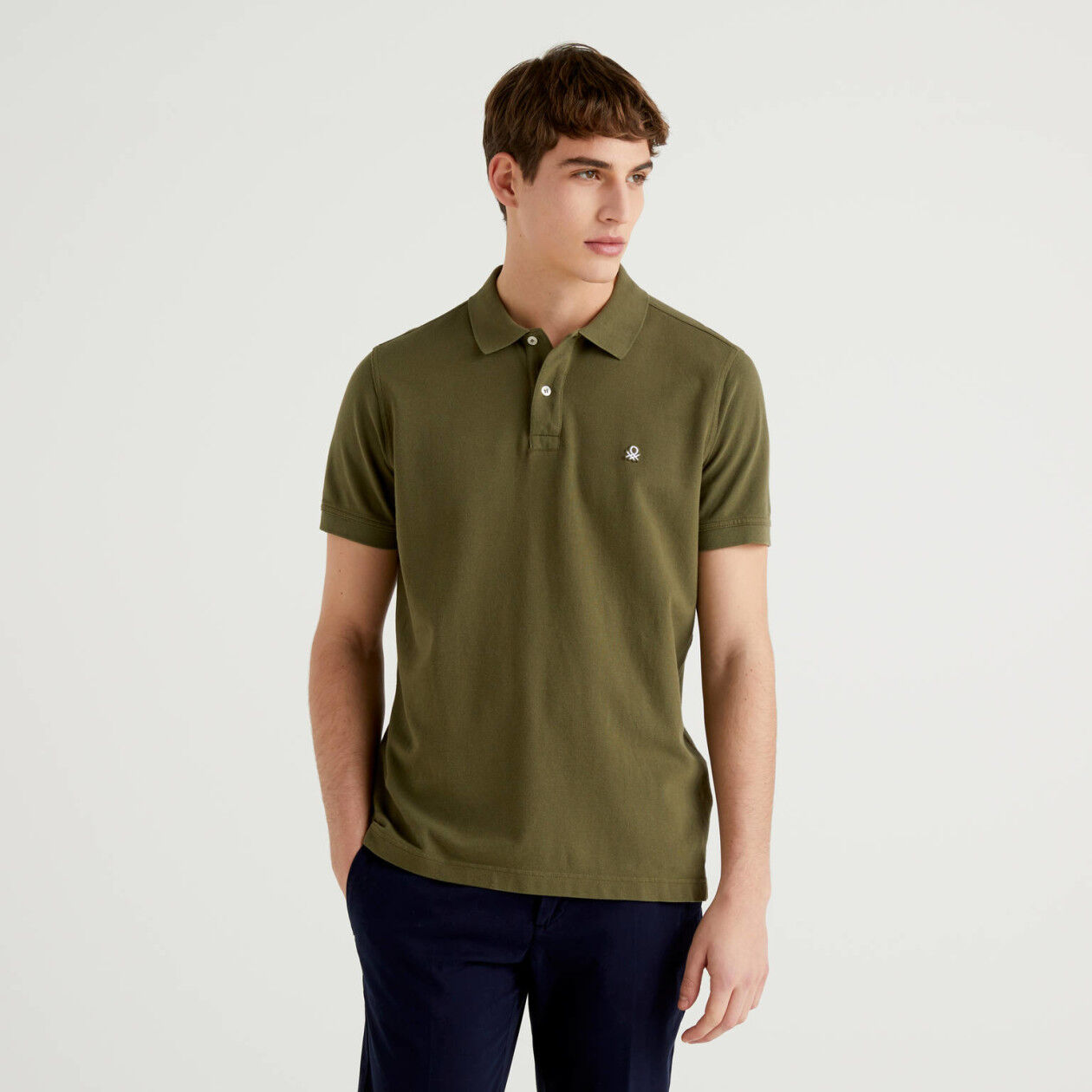Short sleeve polo in 100% cotton