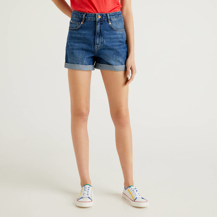 100% cotton denim shorts