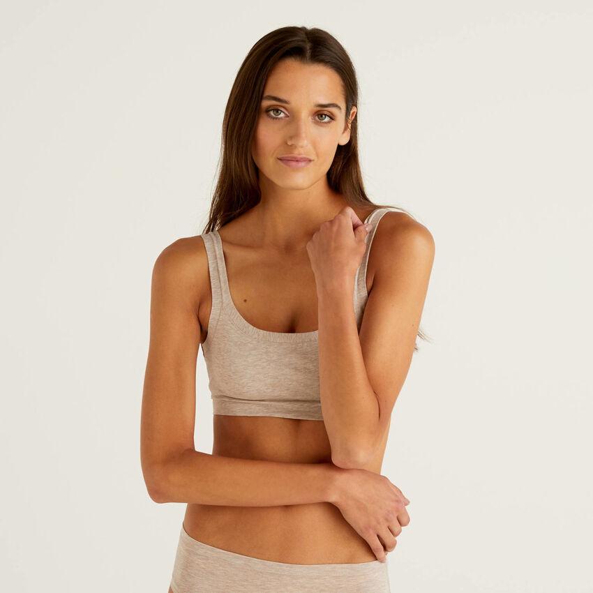 Super stretch organic cotton bra
