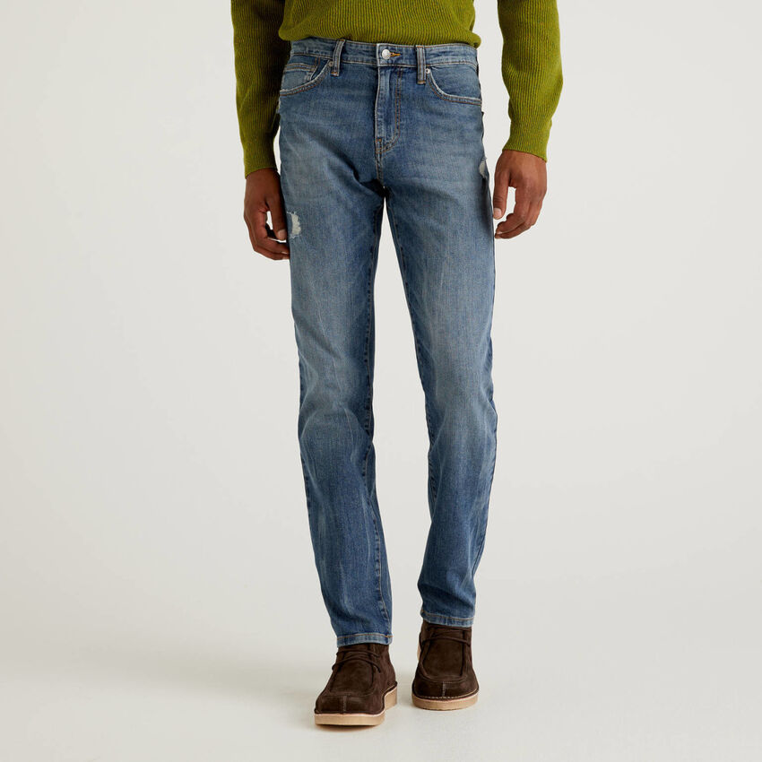 Five pocket jeans in stretch cotton