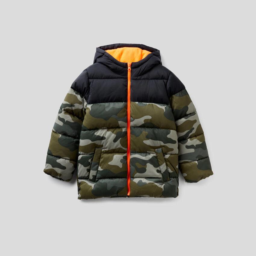 Camouflage pattern padded jacket