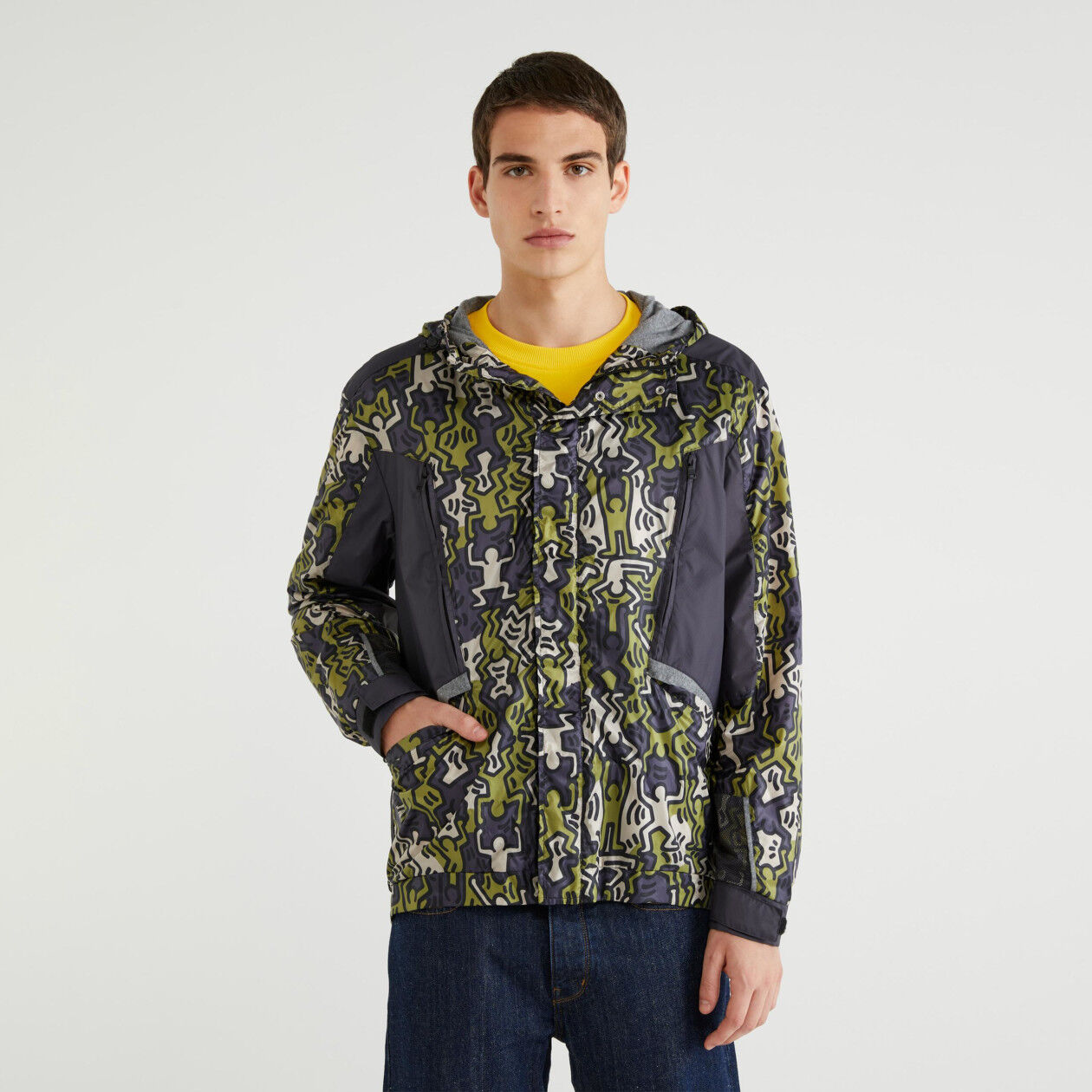 "Jacket with ""Keith Haring"" print"