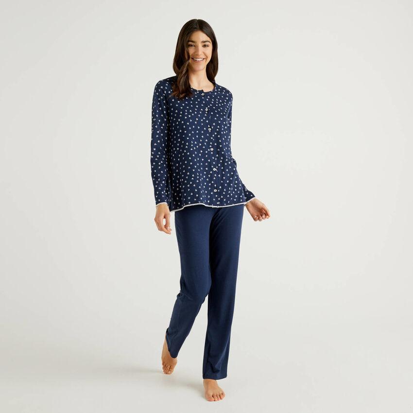 Pyjamas with open top