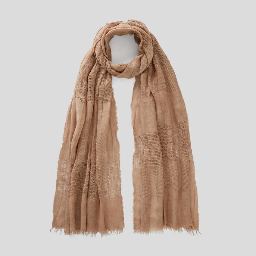 Tone-on-tone striped scarf