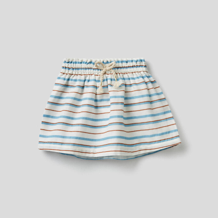 Patterned skirt in pure cotton