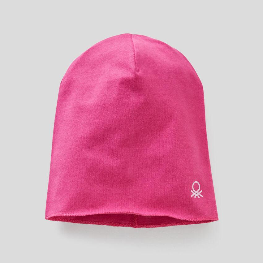 Cap in stretch cotton jersey