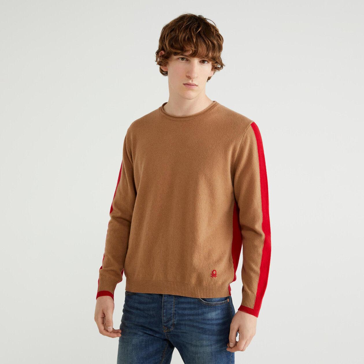 Two-tone sweater