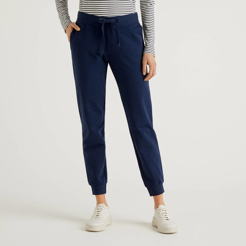 Stretch cotton sweatpants