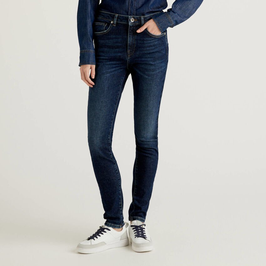 High-waisted skinny fit jeans