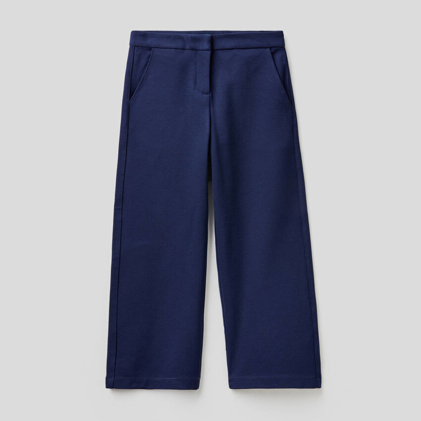 Palazzo trousers in solid color