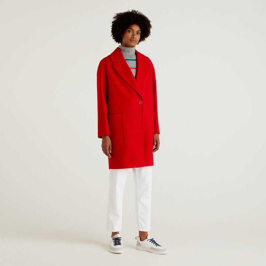 Wool blend cloth coat