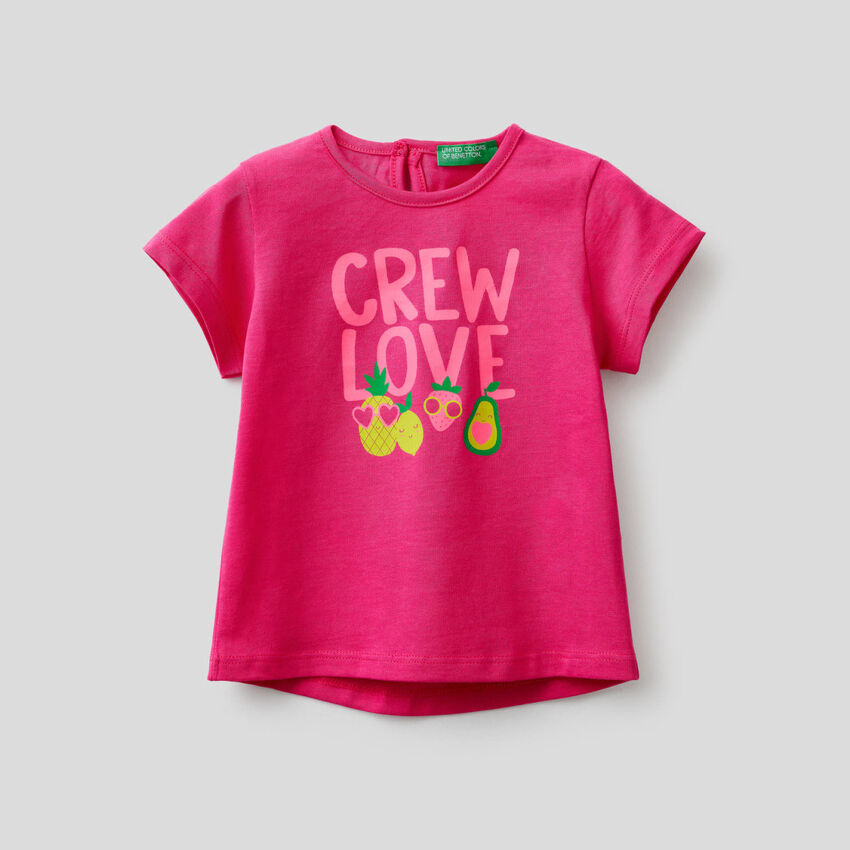 T-shirt with neon print