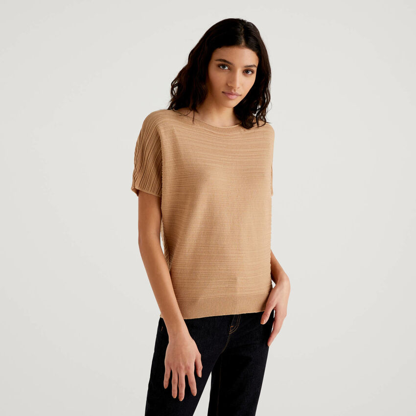 Sweater in pure cotton