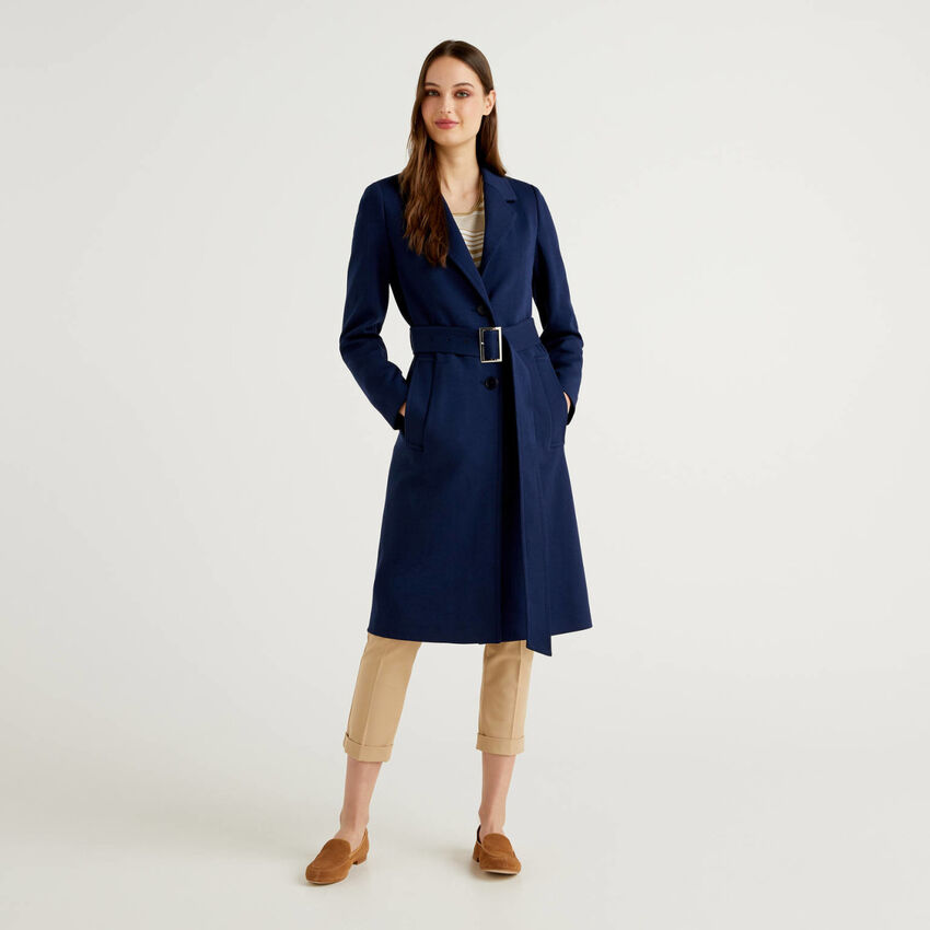 Classic duster coat with belt