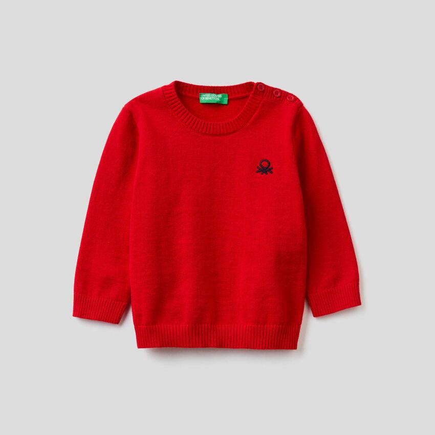 Tricot sweater in pure cotton