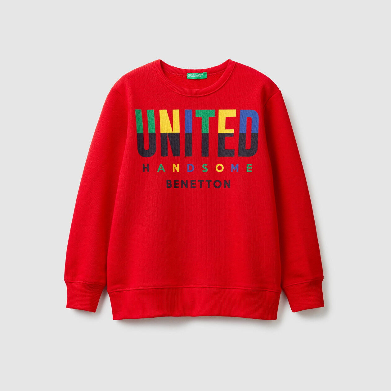 Sweatshirt with multi-color logo