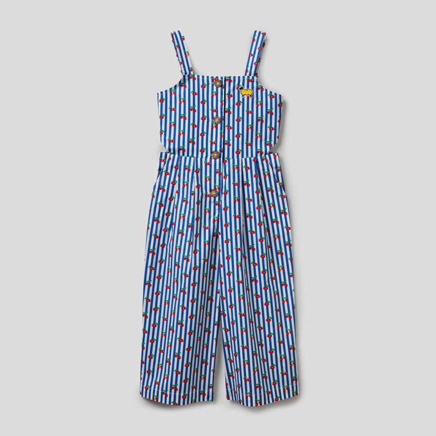 Printed onesie with straps