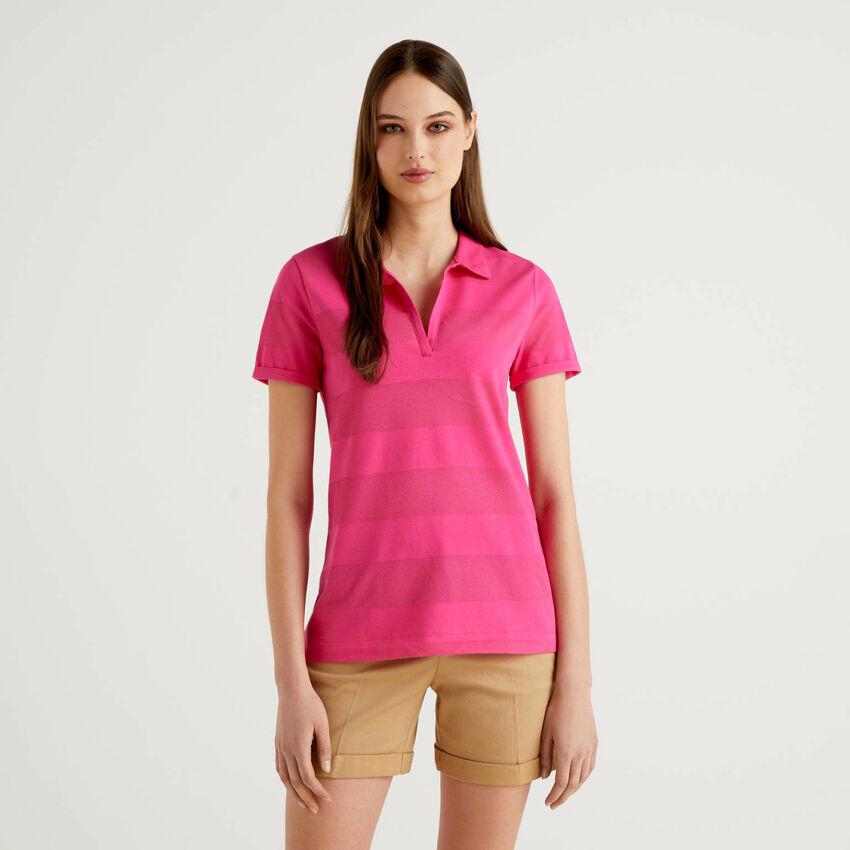 Polo with V-neck