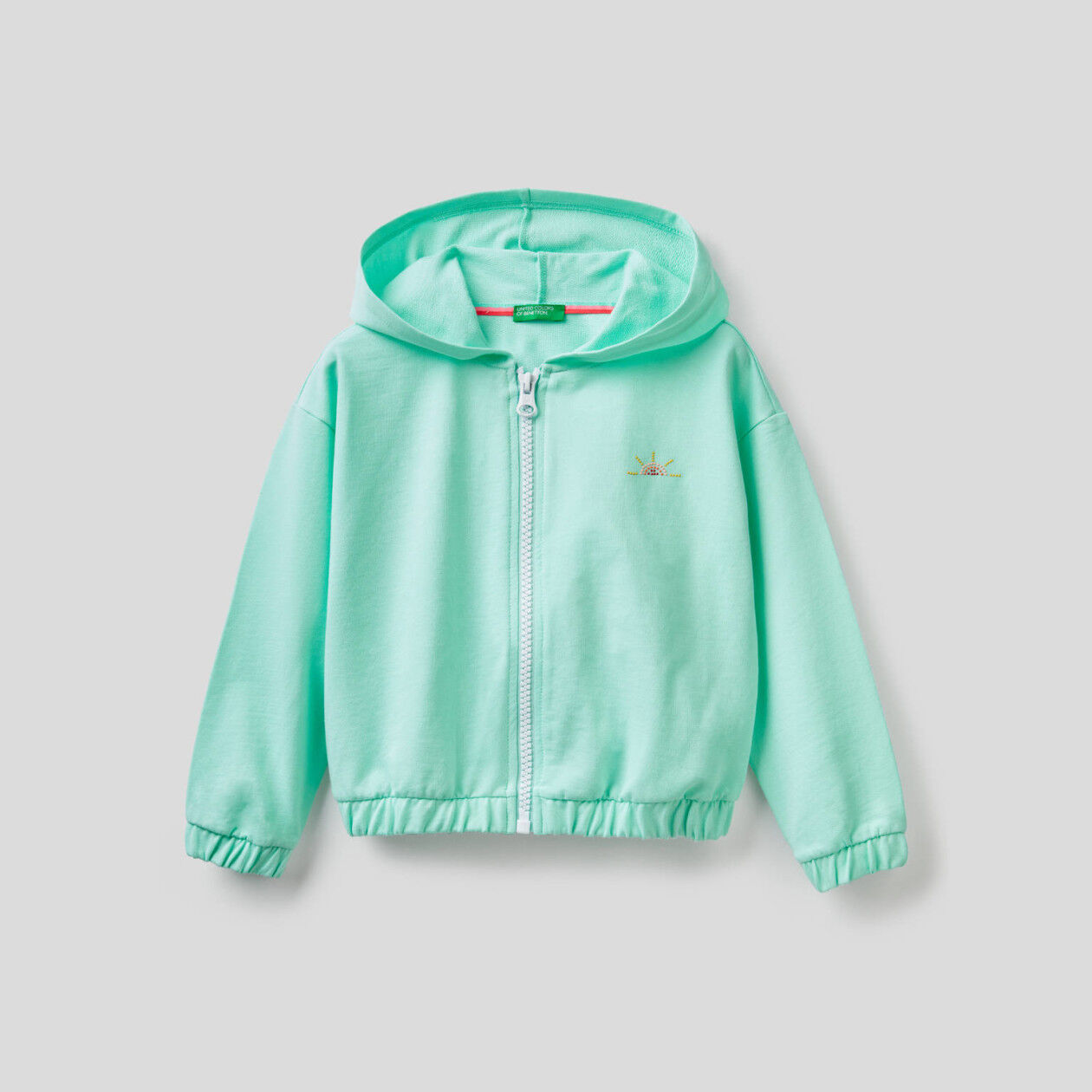 Lightweight zip-up hoodie