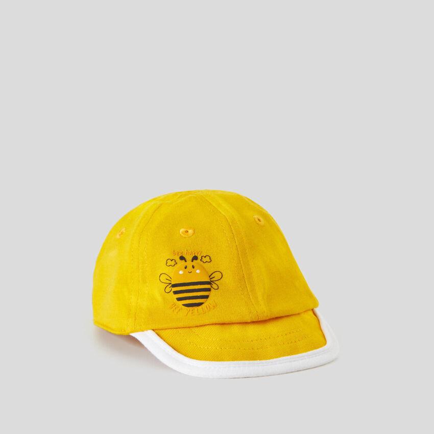 Yellow cap with visor