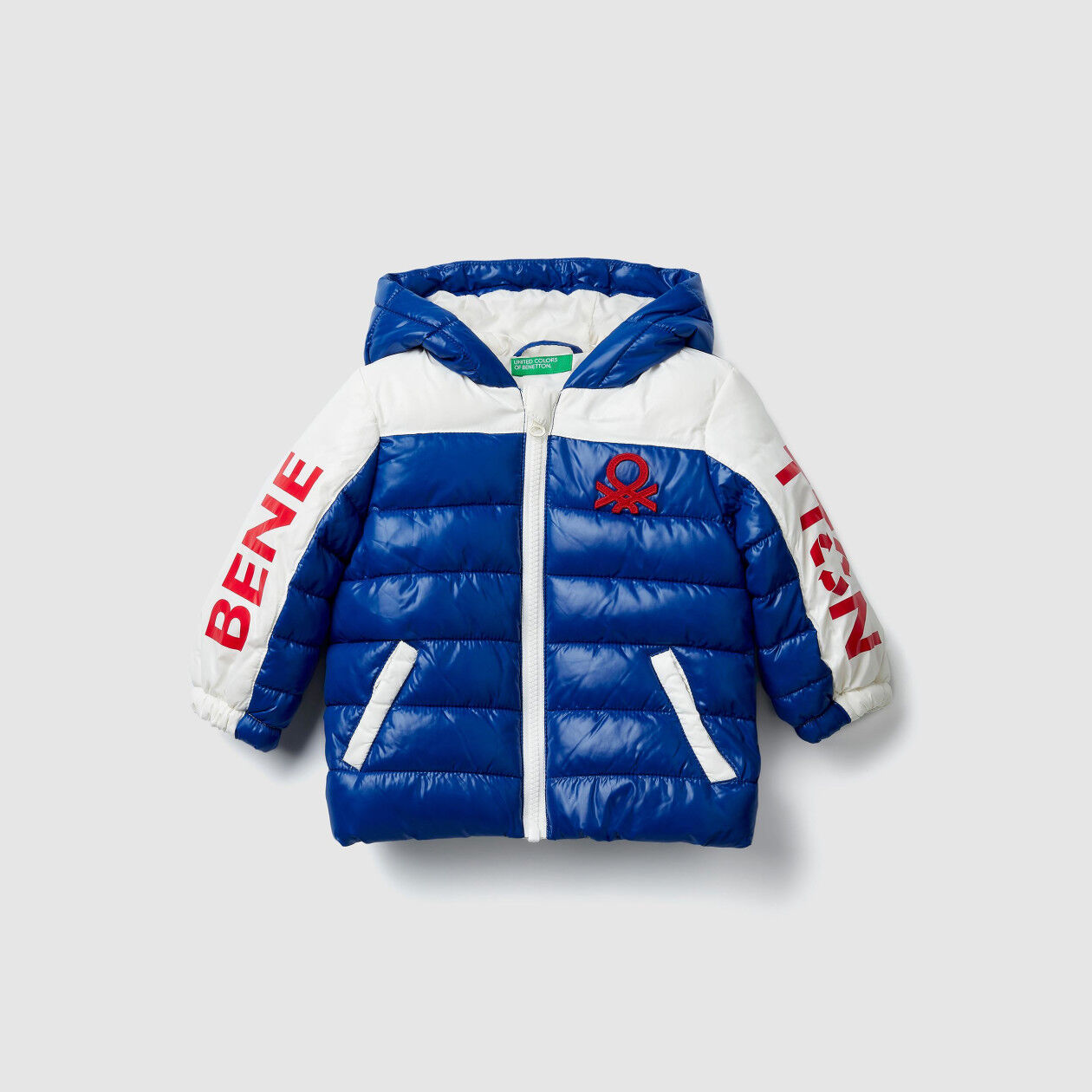 """Eco-Recycle"" padded jacket with logo"