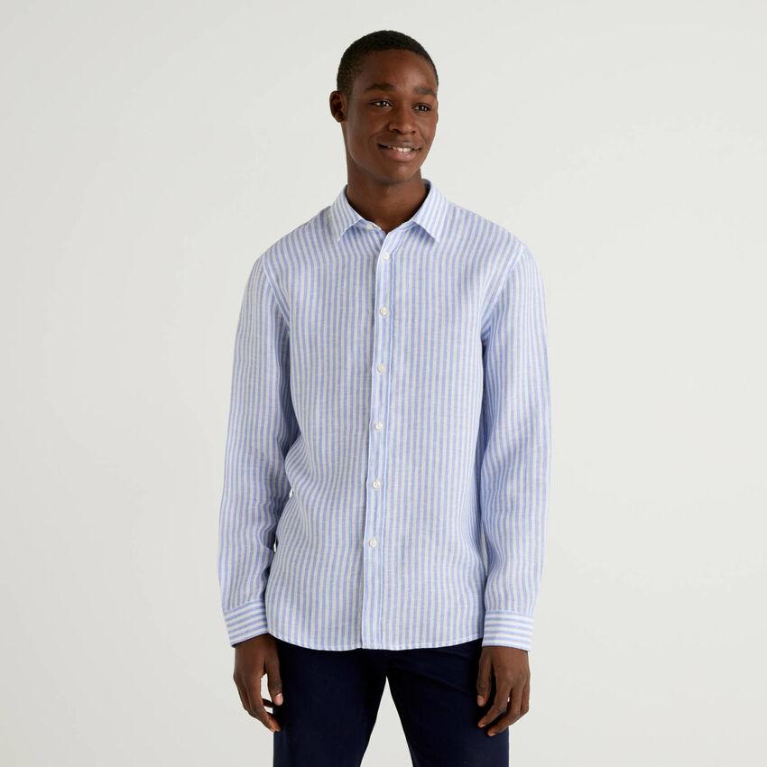 Shirt in pure linen
