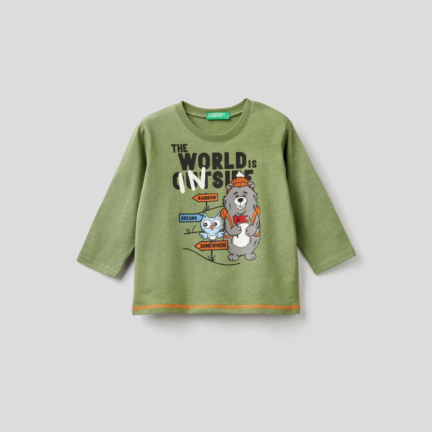 Printed t-shirt in organic cotton