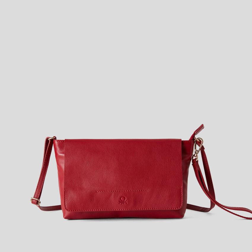Versatile bag in genuine leather