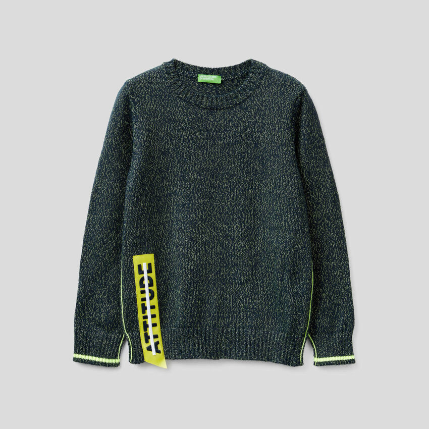 Sweater with neon details