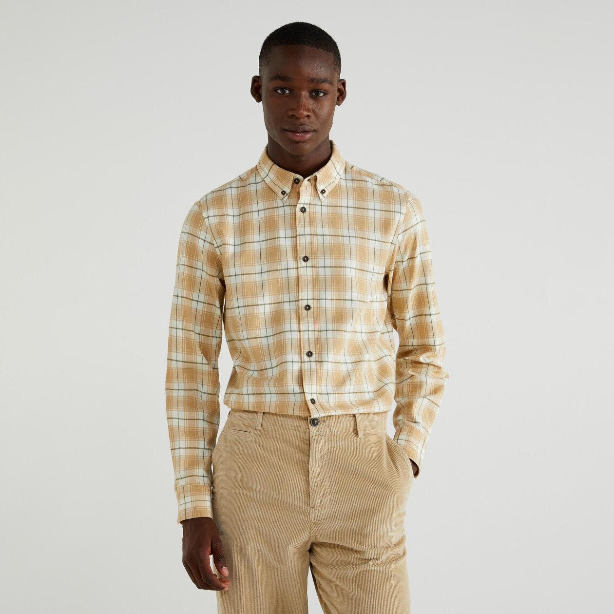 Slim fit check shirt