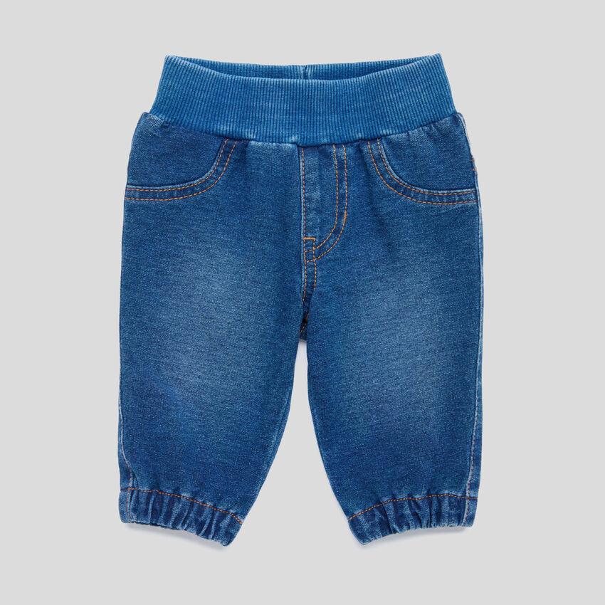 Denim look stretch pants