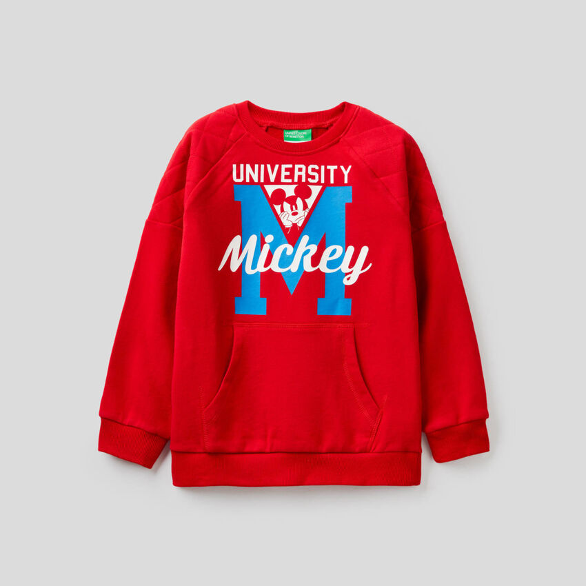 Mickey Mouse sweatshirt with quilted detail