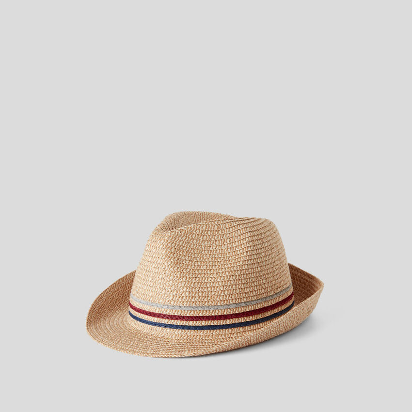 Straw-look hat