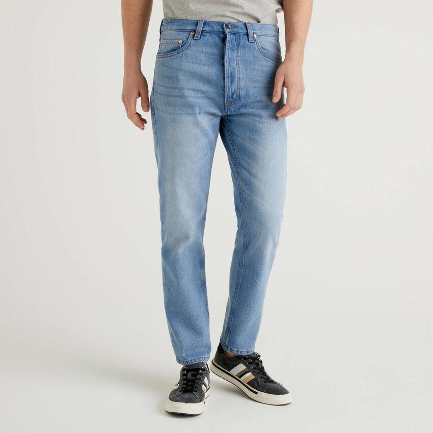 100% cotton five pocket jeans