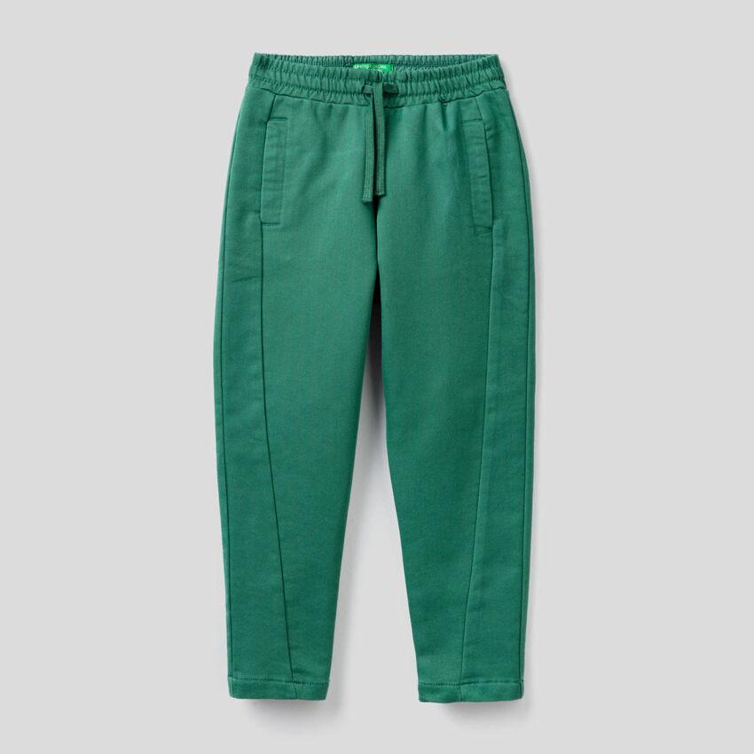 Sporty sweat look trousers