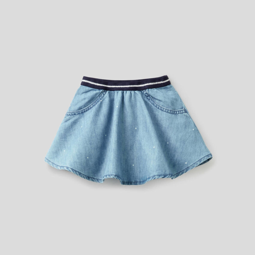 Skirt in light denim