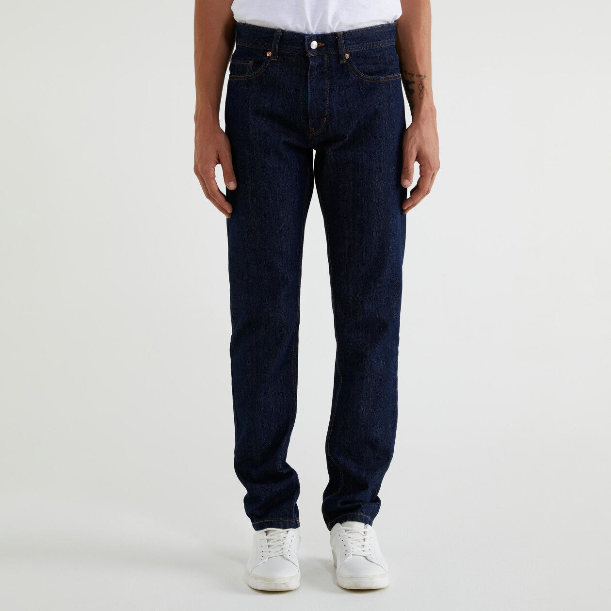 Five pocket straight leg jeans