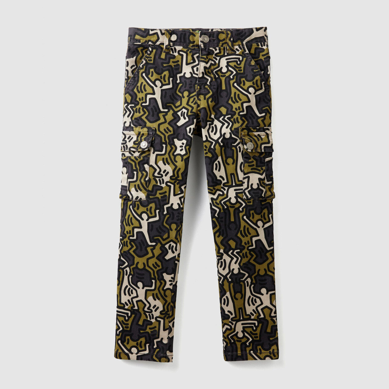 """Keith Haring"" cargo pants"