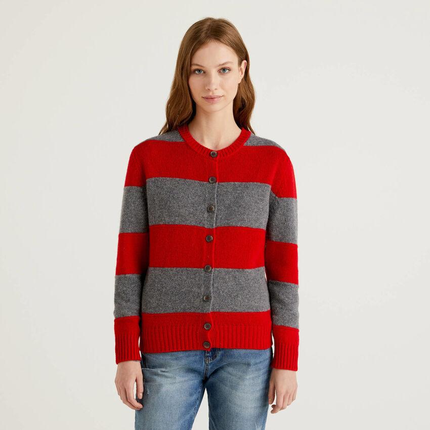 Cardigan in pure Shetland wool